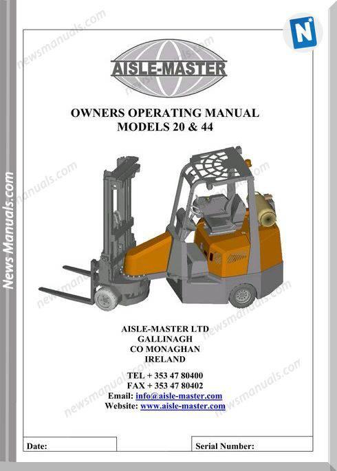 Aisle Master-Am20S-Om-Lpg En-03 Operation Manual