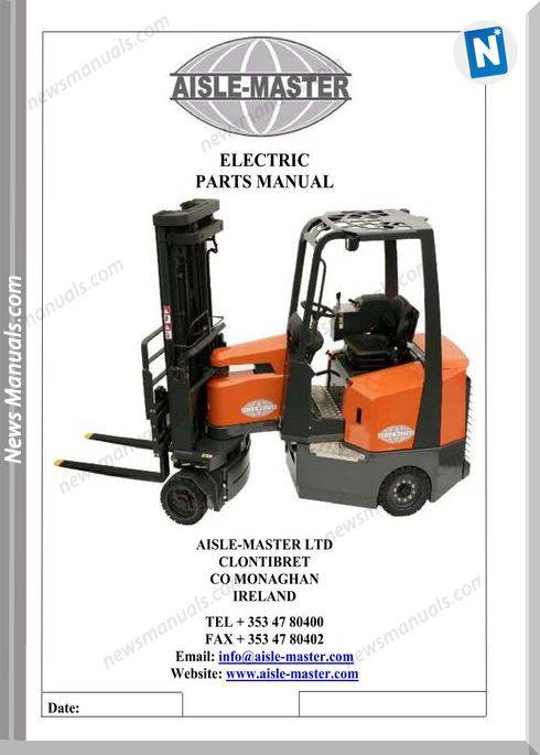 Aisle-Master Electric Mki (Up To 2010) Am20Se Parts Manual