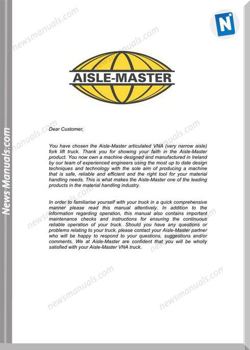 Aisle-Master Electric Mkiii 2016-Up Am15E-M3 Operation Manual
