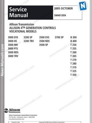 allison 3000 transmission service manual