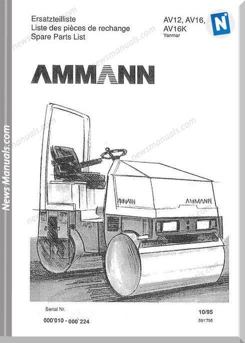 Ammann 591795 Et Liste Av12 20 95 Yan 0010 0224 Parts