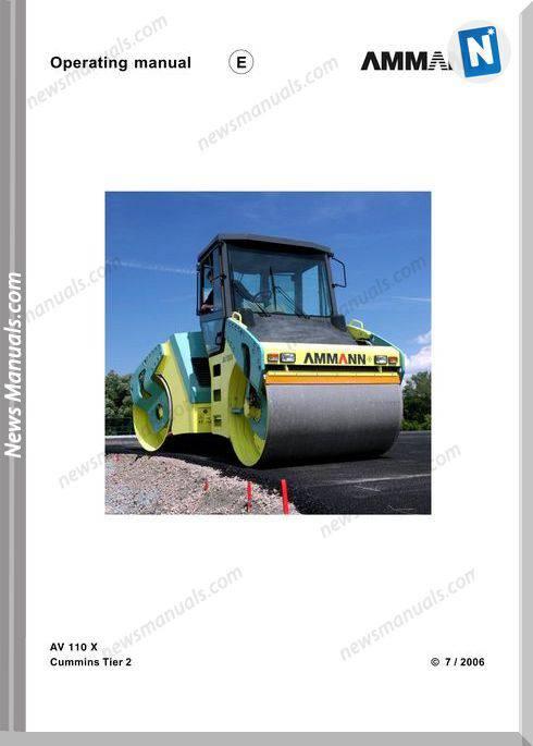 Ammann Av110X A Operation Manual