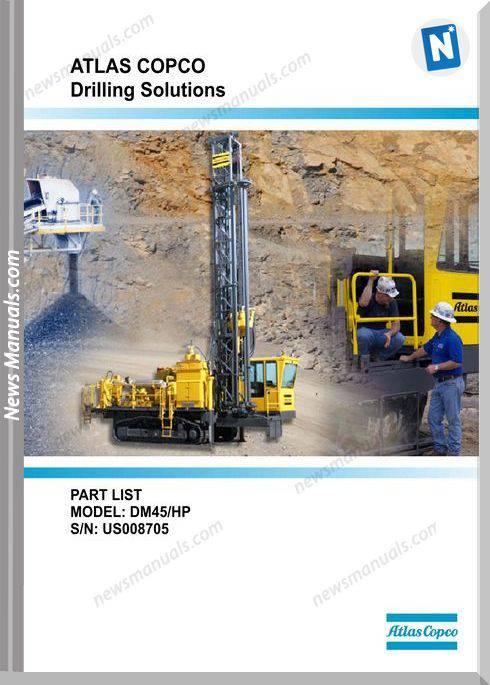 Atlas Copco Models Dm45 Parts Catalog