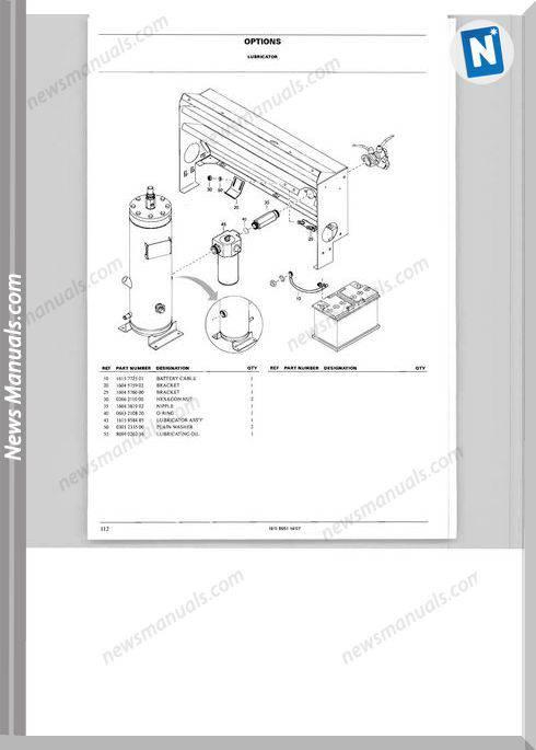 Atlas Copco Models Xas 67 Parts Lists