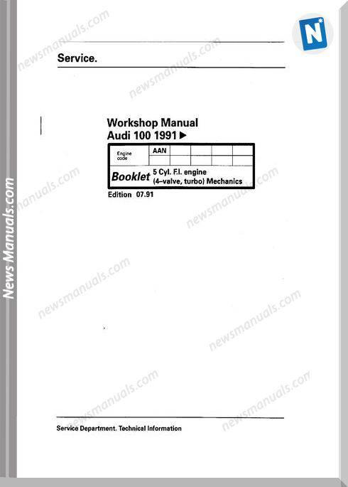 Audi 100 1991 Workshop Manual