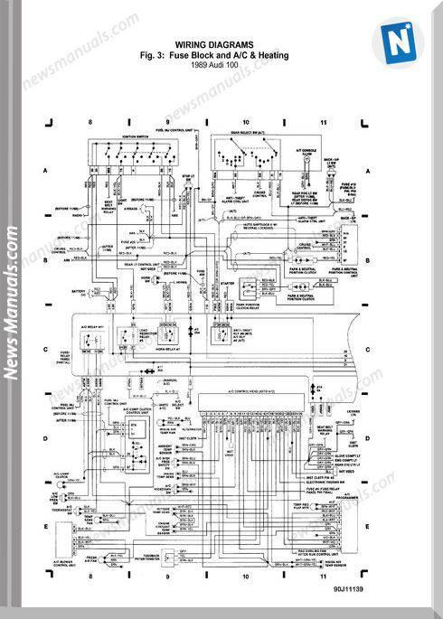 audi 100 models 1989 wiring diagram. Black Bedroom Furniture Sets. Home Design Ideas