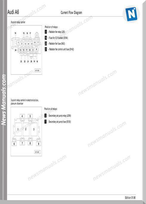 Audi A6 1998 Wiring Diagram