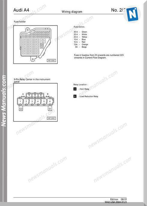 2011 Audi A6 Wiring Diagram