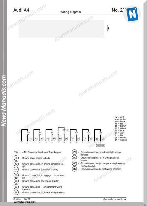Audi A6 2002 Wiring Diagram