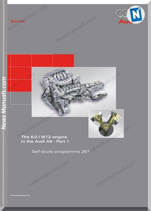 Audi A8 Self Study Book 267 The 6 0L W12 Engine Cd 1