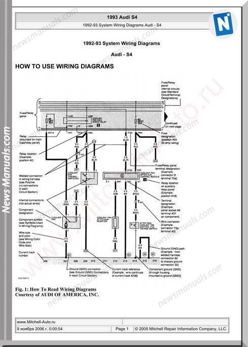 Audi S4 1992 1993 Wiring Diagram