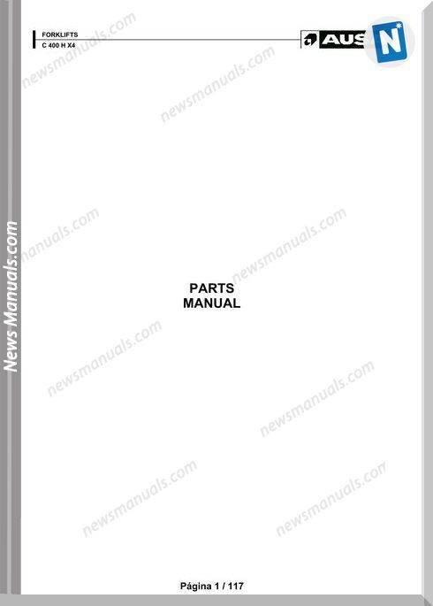 Ausa Models C 400 X X4 Parts Manual Katalog Delova