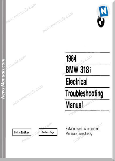 Bmw 318I 1984 Electrical Troubleshooting Manual