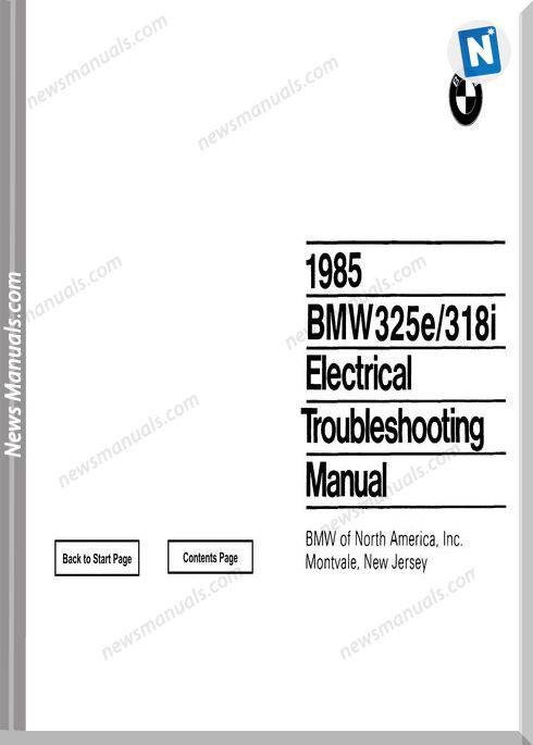 Bmw 318I 325E Electrical Troubleshooting Manual 1985