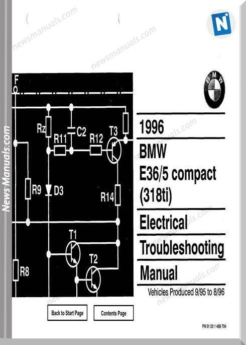 Bmw 318Ti 1996 Electrical Troubleshooting Manual