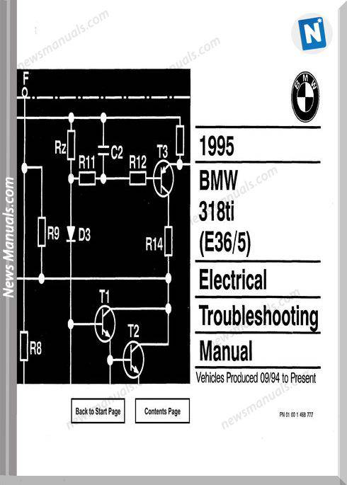 Bmw 318Ti Electrical 1995 Troubleshooting Manual