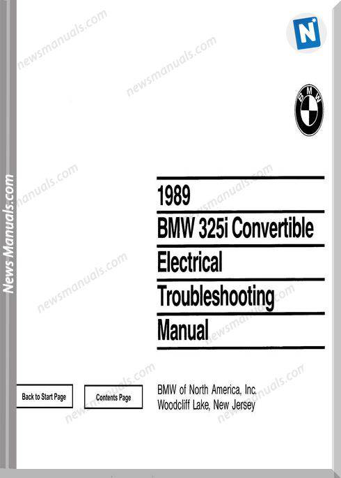 Bmw 325I 1989 Convertible Troubleshooting Manual