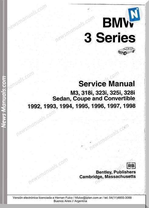 Bmw 5 Bmw 3 E36 Service Manual