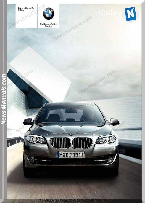 Bmw 5 Series 2011 Owners Manual