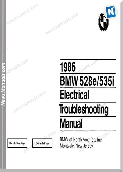 Bmw 528E 535I Electrical Troubleshooting Manual