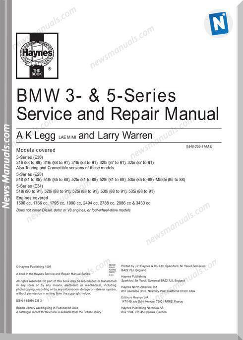 Bmw E30 E28 E34 Repair Manual
