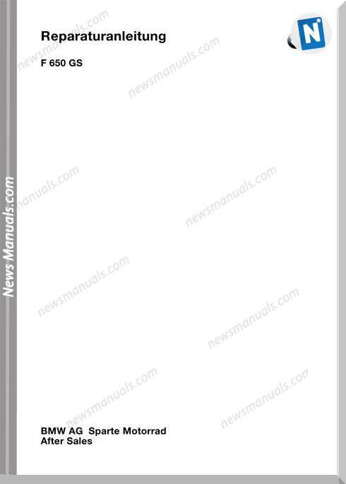 Bmw F650Gs Repair Manual German