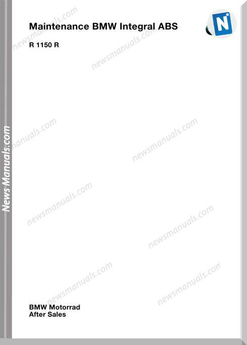 Bmw R1150 R Abs Maintenance Manual