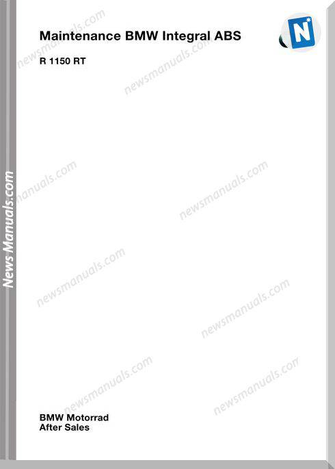 Bmw R1150 Rt Abs Maintenance Manual