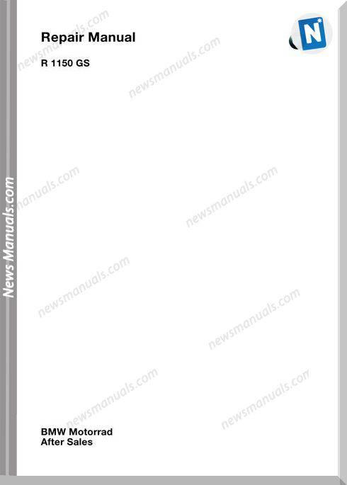 Bmw R1150Gs Service Repair Manual