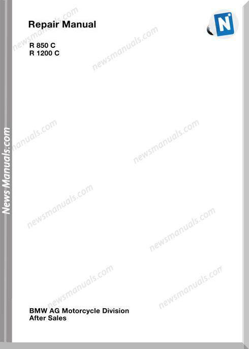 Bmw R850C R1200C Service Repair Manual