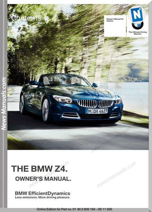 Bmw Z4 Series 2012 Owners Manual