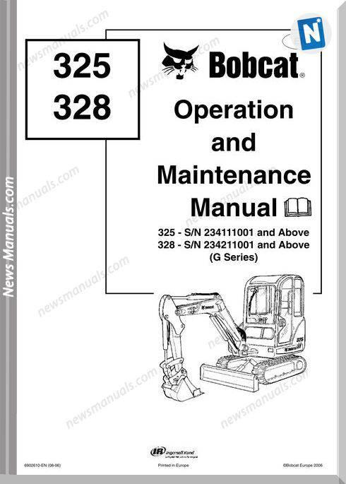 Bobcat 325 328 Operation Manual