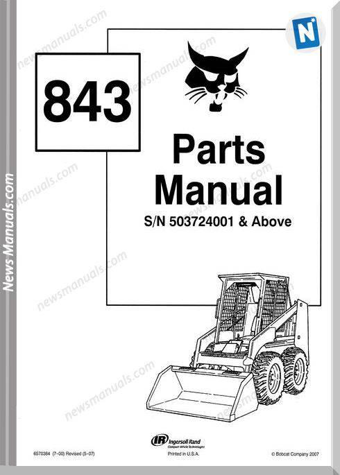 Bobcat 843 Parts Manual