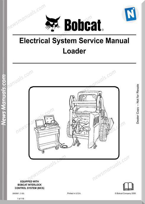 Bobcat Electrical System Service Manual Loader