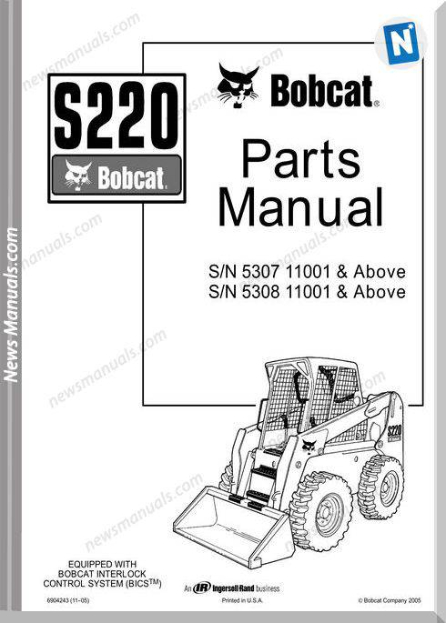 Bobcat S220 Skid Loader Parts Manual