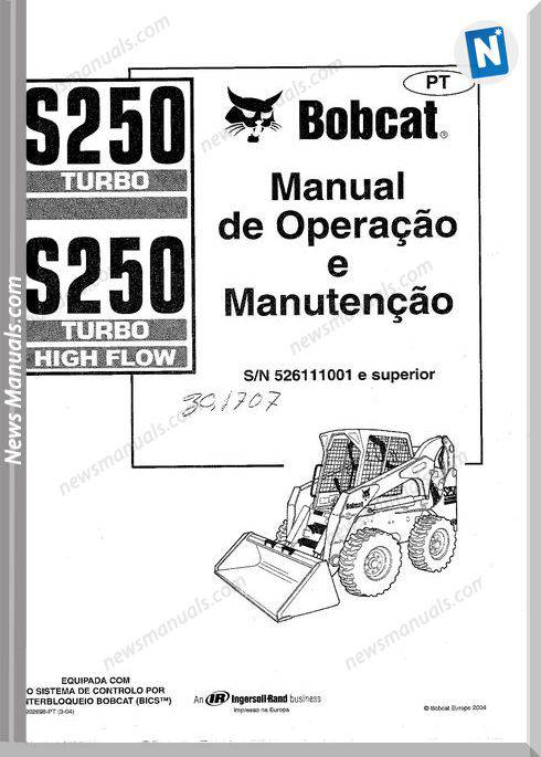 Bobcat S250 Turbo Operation Maintenance Manual Spanish