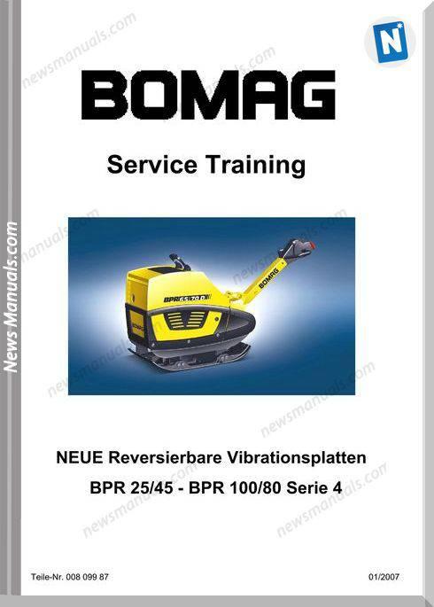 Bomag Bpr25 45 100 80 Serie 4 Service Training