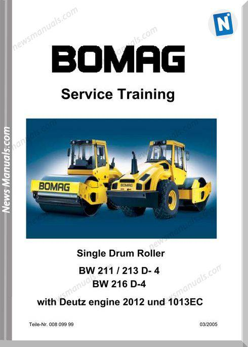 Bomag Bw211213216 D-4 Service Training Manual