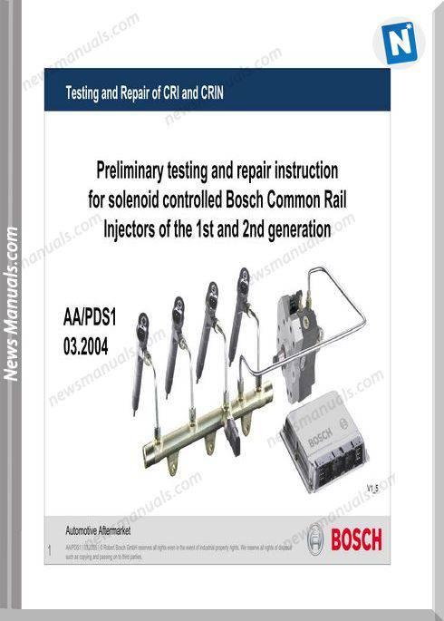 Bosch Testing Repair Crdi Injectors