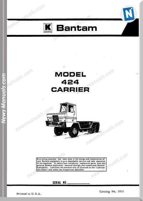 Carrier 424 Parts Manual