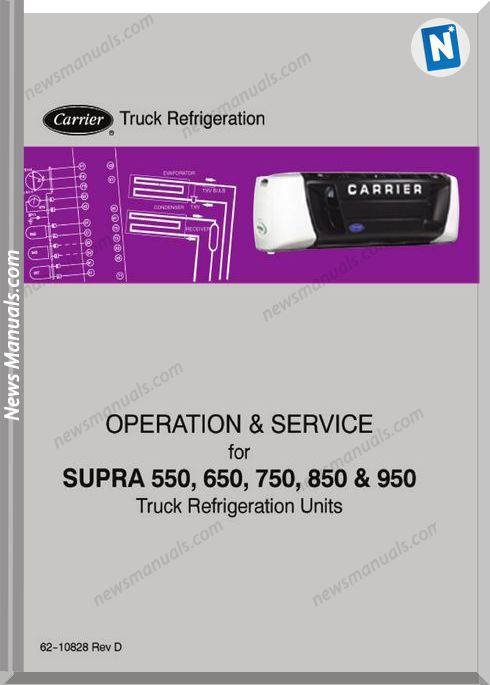Carrier Truck Supra 550 650 750 850 950 Service Manual