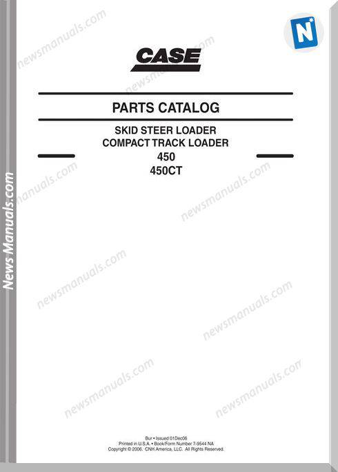 Case 450 Ct Compact Track Loader Parts Catalogue