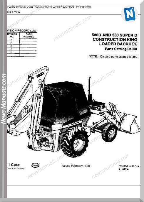 Case 580 Super D Parts Manual
