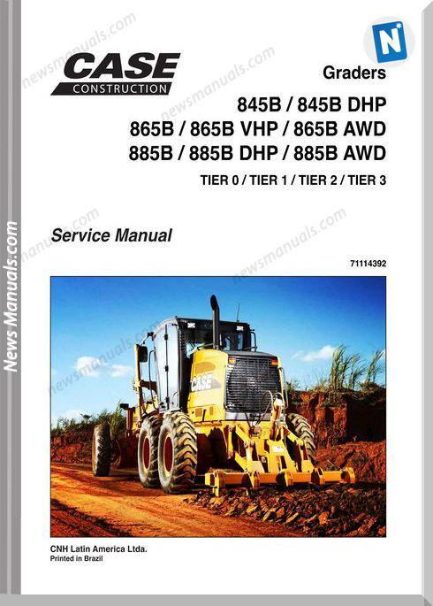 Case 845, 865, 885 Graders Service Manual