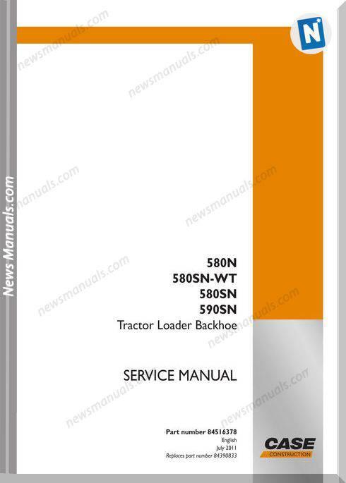 Case Backhoe 580N Backhoe Service Manual