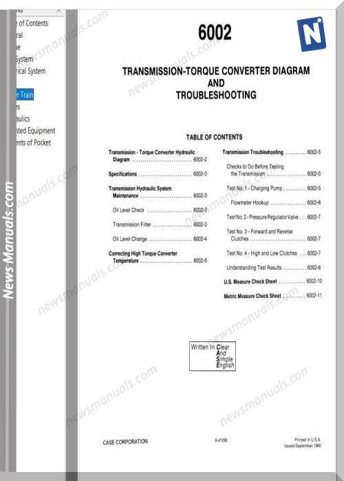 Case Crawlers 850D 855D Service Manual