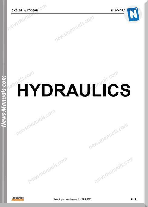 Case Cx210B 290B Hydraulicraulics