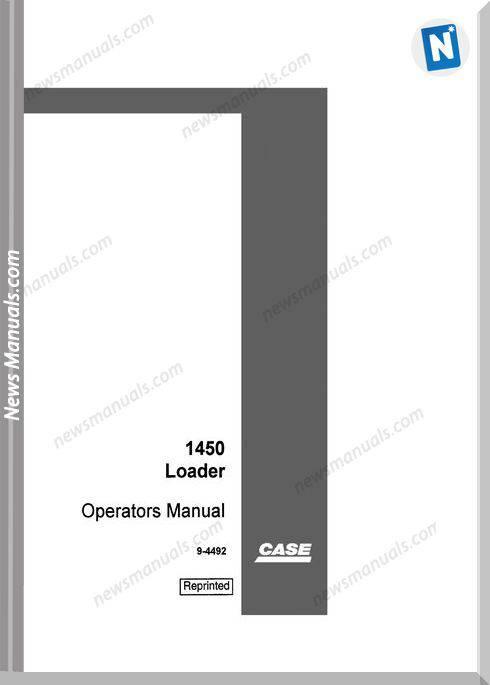 Case Dozer Crawler 1450 Crawler Loader Operators Manual