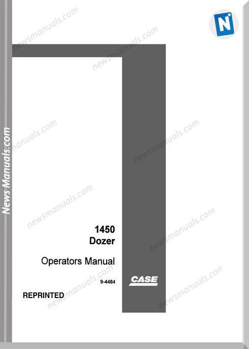 Case Dozer Crawler 1450 Operators Manual