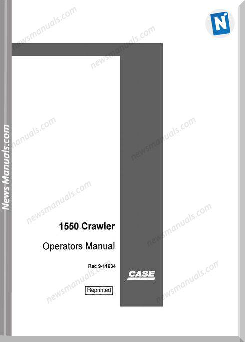 Case Dozer Crawler 1550 Operators Manual